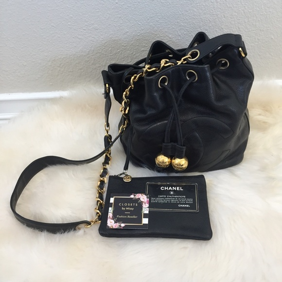 91c0f58e778b6f CHANEL Handbags - 100% Authentic CHANEL Vintage Lambskin Bucket Bag